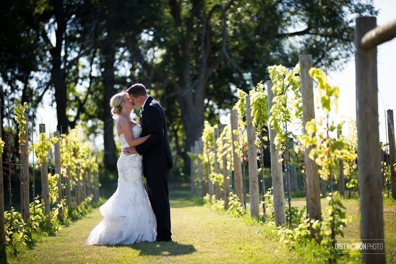 Candie & Justin in Whistler's Vineyard | Photo credit to Distinction Photo