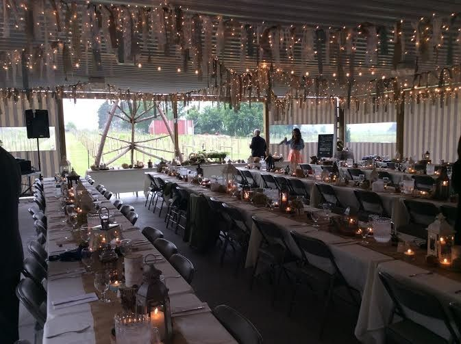 Grapevine Pavilion transforms into a magical place once the bride and groom finish decorating!