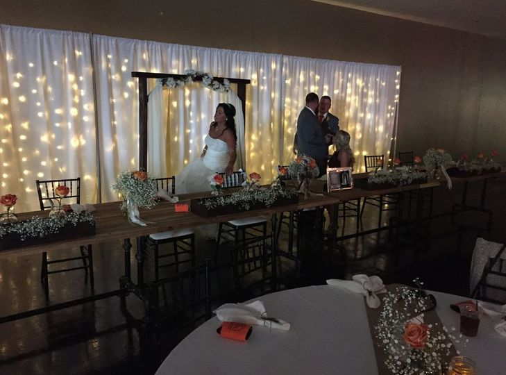 Head table backdrop lighting