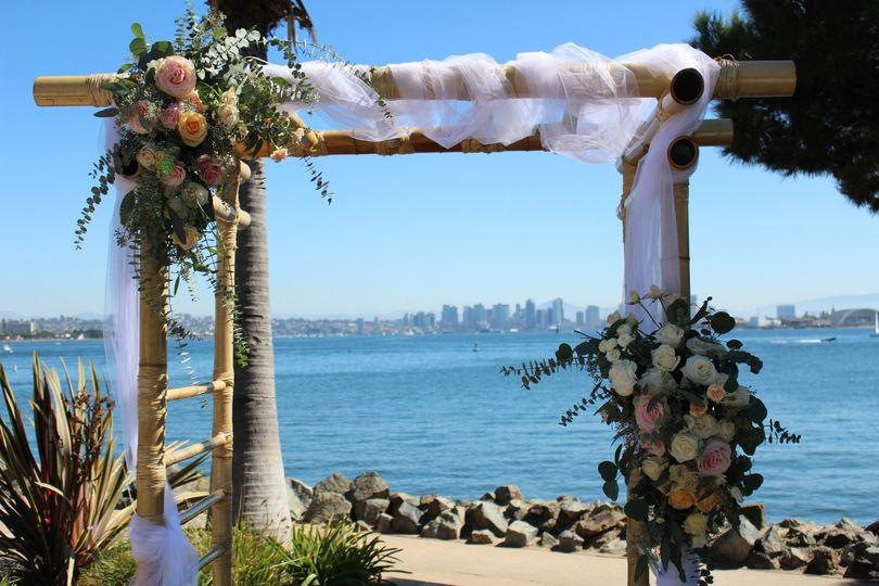 Wedding Arch Bali Hai