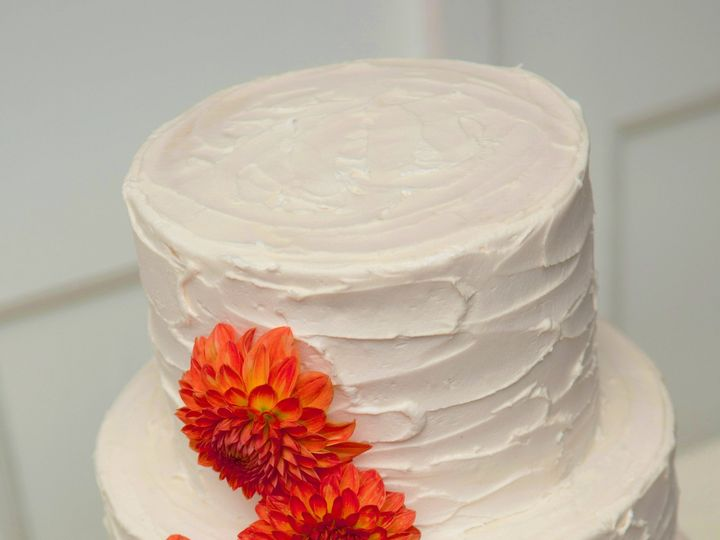 Tmx 1437880820204 Weddingcakeorangedahlia Hampton, New Hampshire wedding cake
