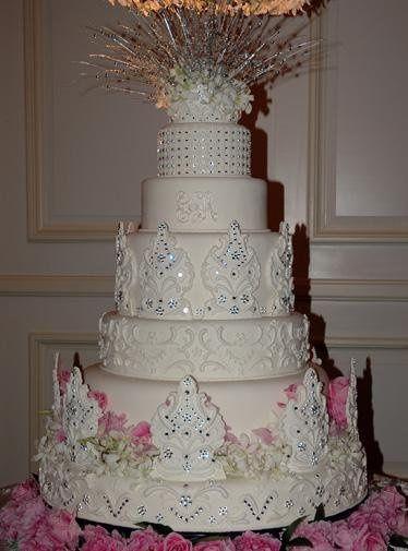 Fabulous fondant cake with crystal detailing.