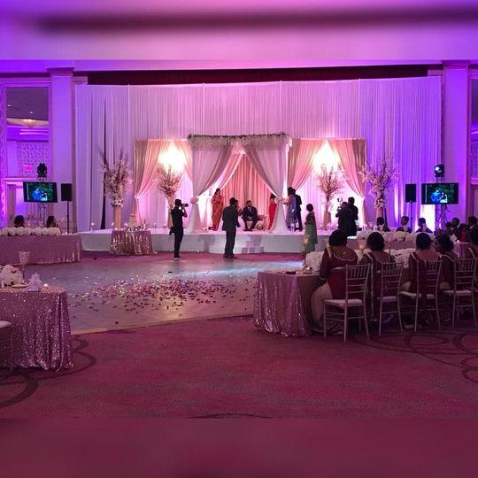 Beautiful lighting for wedding
