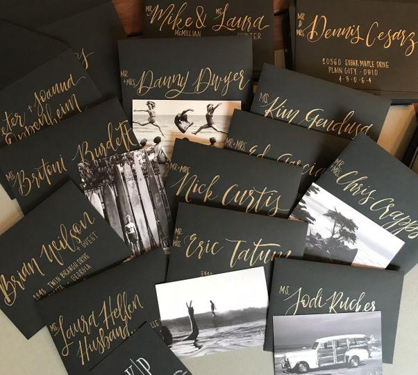 Hand Lettered Envelopes
