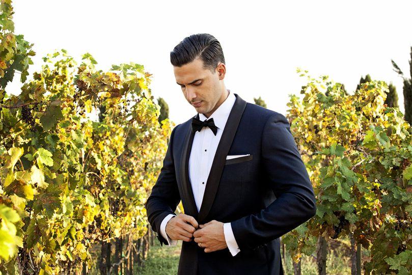 Groom in the vineyard