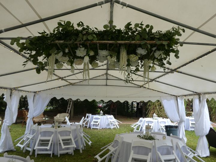 Tented reception setup