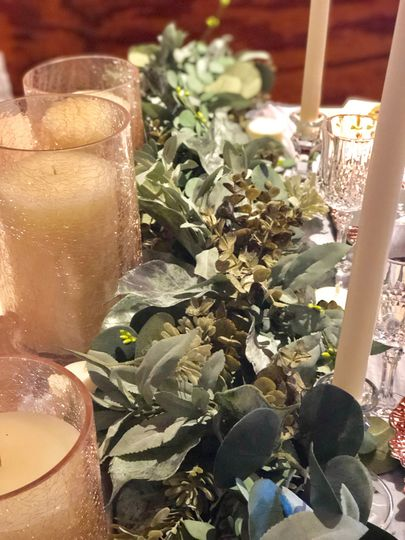Greenery on Mr. and Mrs Table
