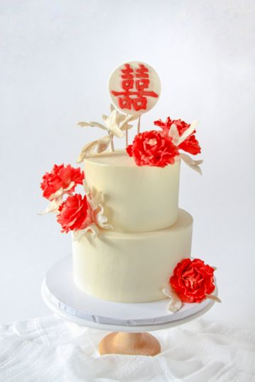 Buttercream with Sugar Flowers