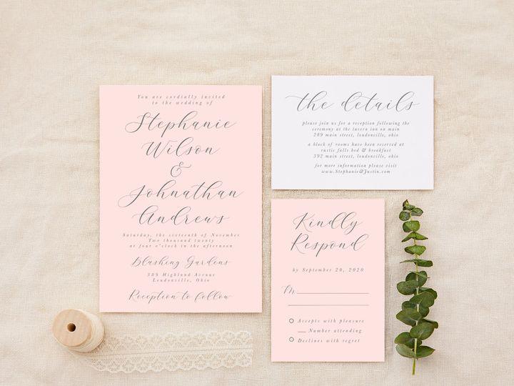 Tmx Blushgrey 51 1184289 157670737969265 Loudonville, OH wedding invitation