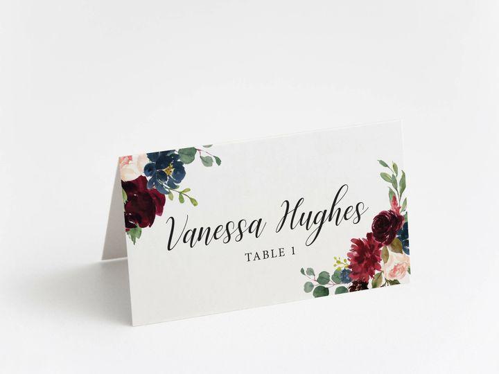 Tmx Burgundyframe 51 1184289 157661830642485 Loudonville, OH wedding invitation