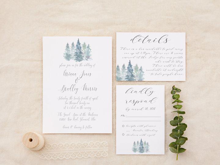 Tmx Dustyblueforest Copy 51 1184289 157661605897546 Loudonville, OH wedding invitation