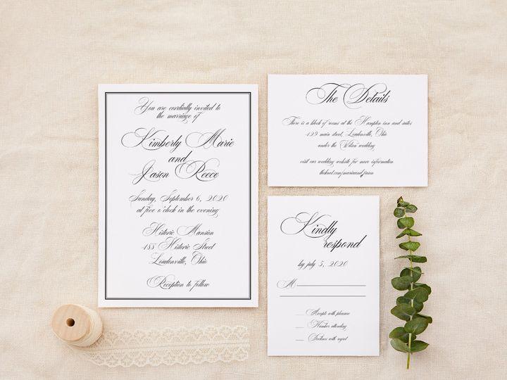 Tmx Elegantscript 51 1184289 158824846040560 Loudonville, OH wedding invitation
