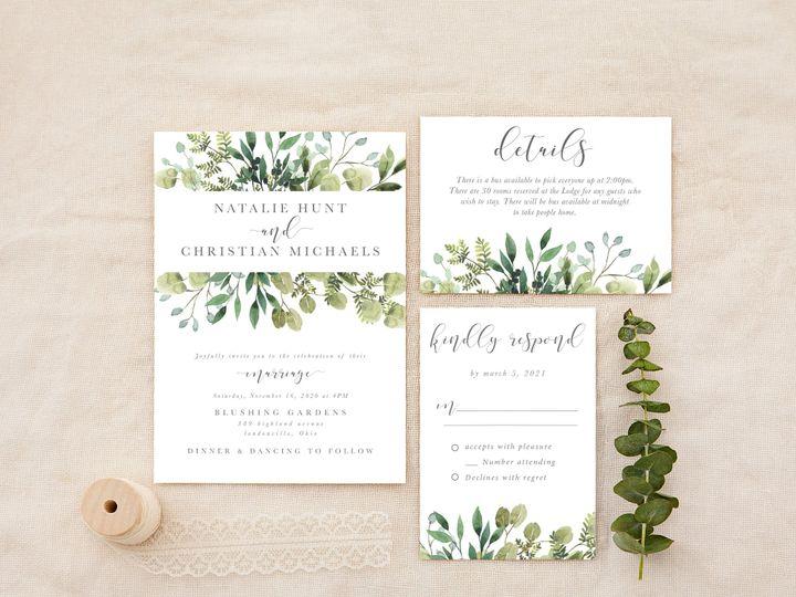 Tmx Eucalyptusgrey 51 1184289 157679035725236 Loudonville, OH wedding invitation