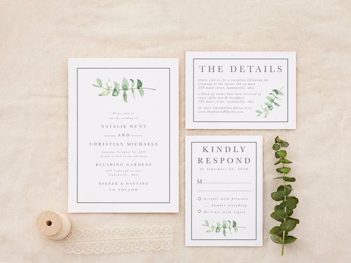 Tmx Eucalyptusminimal 51 1184289 157670738176744 Loudonville, OH wedding invitation