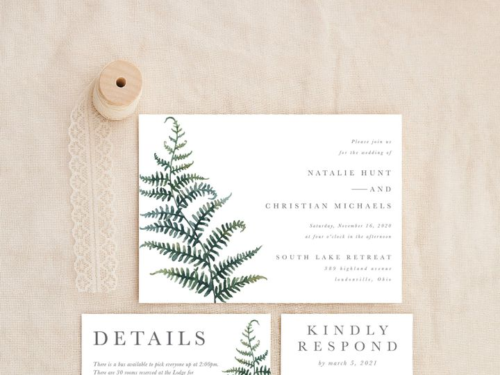 Tmx Fernminimalist 51 1184289 157679035566465 Loudonville, OH wedding invitation