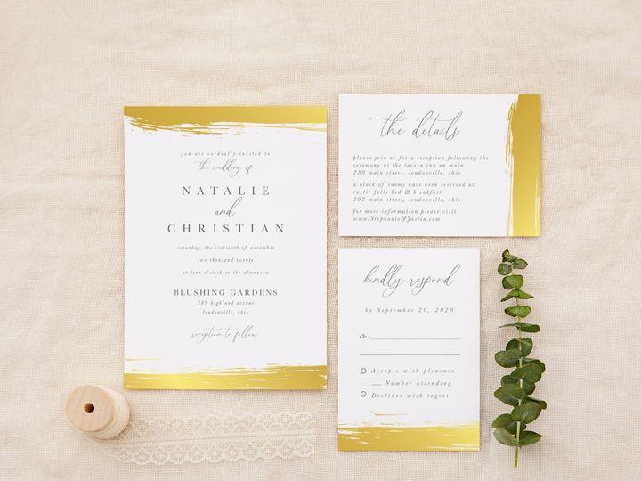 Tmx Greygoldbrushstroke 51 1184289 157670737784838 Loudonville, OH wedding invitation
