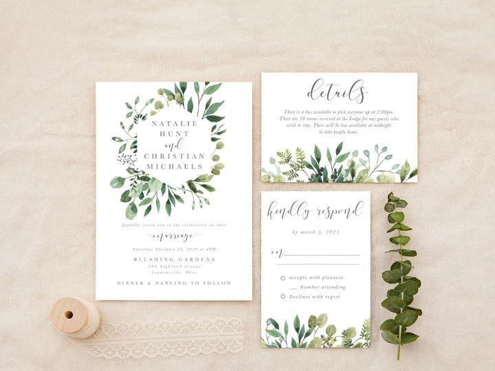 Tmx Justgreeneryframe 51 1184289 157679035720208 Loudonville, OH wedding invitation