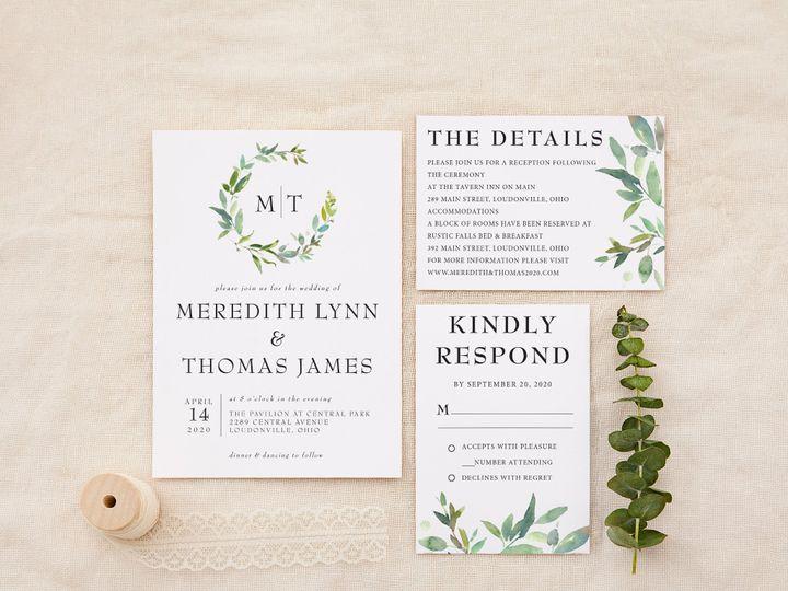 Tmx Minimal Sage Greenery Copy 51 1184289 157661605651484 Loudonville, OH wedding invitation