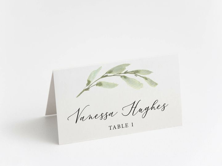 Tmx Minimalgreenwatercolor 51 1184289 157661830515586 Loudonville, OH wedding invitation