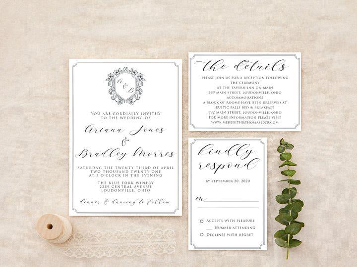 Tmx Ornate Minimal Copy 51 1184289 157661605985766 Loudonville, OH wedding invitation