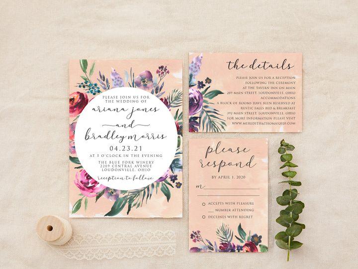 Tmx Purplespringflorals 51 1184289 157661819842965 Loudonville, OH wedding invitation