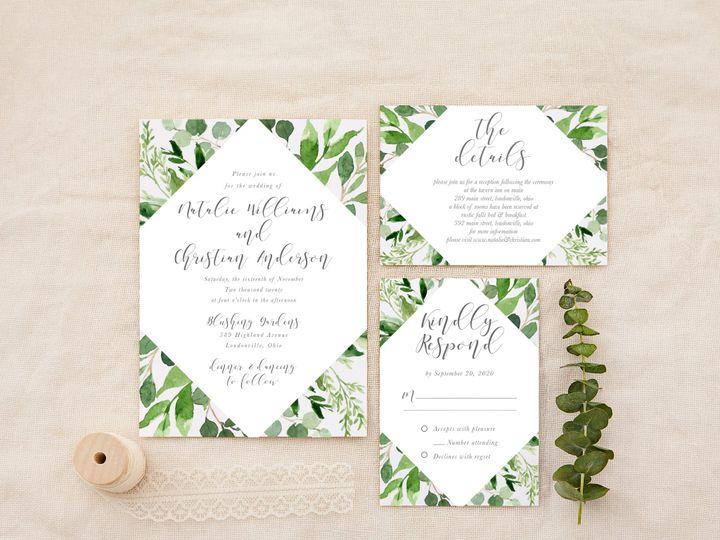 Tmx Sagegreenerydiamond 51 1184289 157670738267714 Loudonville, OH wedding invitation