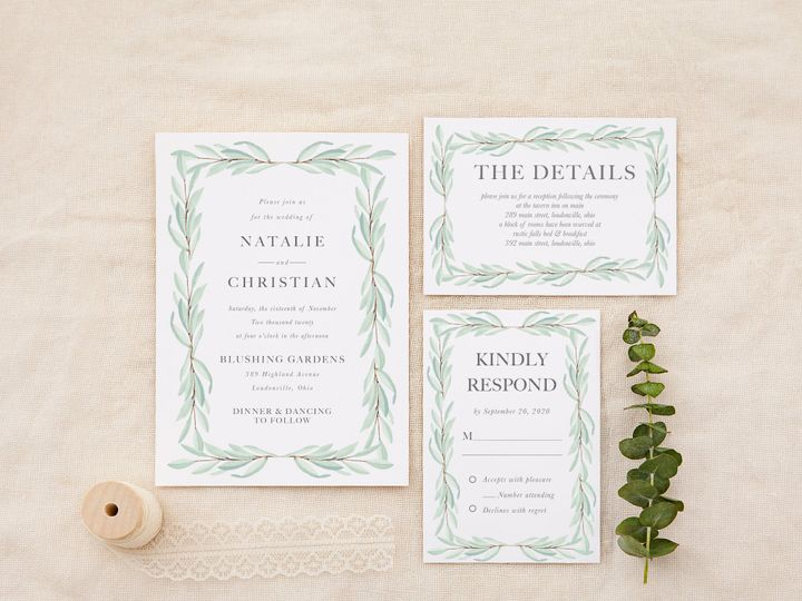 Tmx Sagegreenerysimple 51 1184289 157661605659251 Loudonville, OH wedding invitation