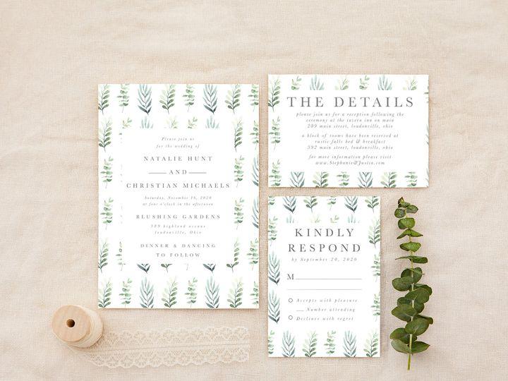 Tmx Simplegreenerypattern 51 1184289 157670737793343 Loudonville, OH wedding invitation