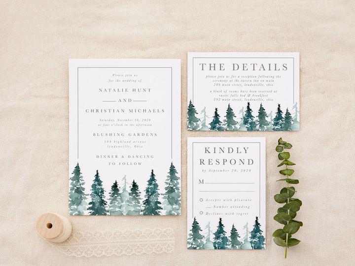 Tmx Sprucetreesgrey 51 1184289 157670737880977 Loudonville, OH wedding invitation