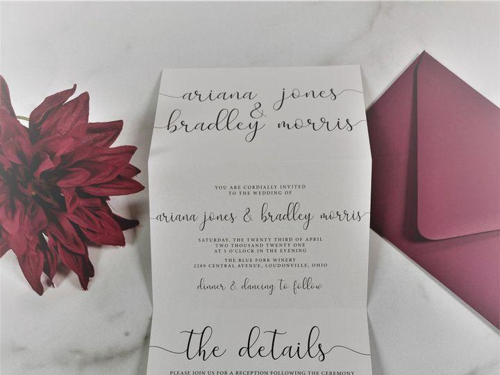 Tmx Tri Fold Minimalist 51 1184289 158170577340823 Loudonville, OH wedding invitation