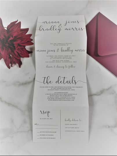 Tri-Fold Wedding Invitations