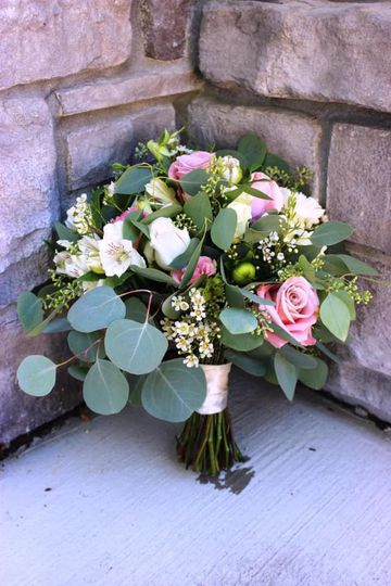 Loose euc and flowers bouquet