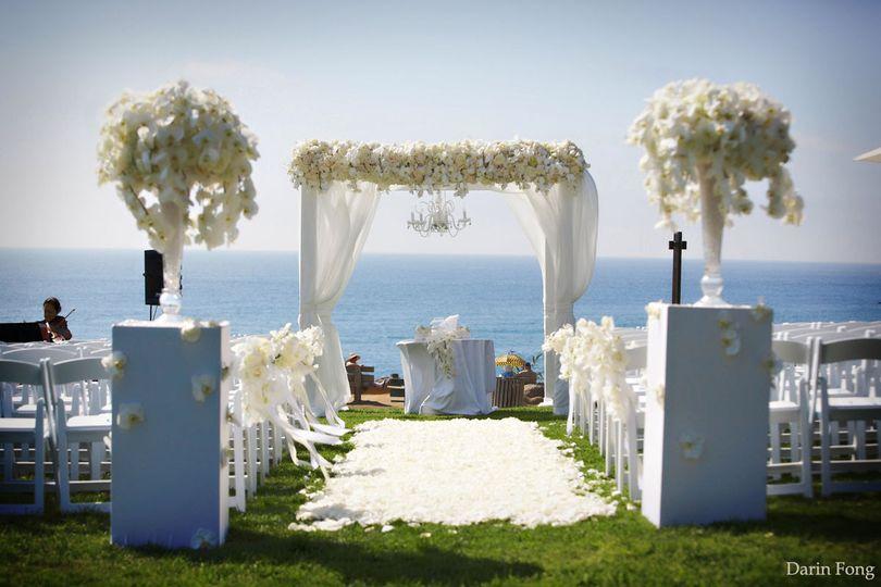 Beach side ceremony area