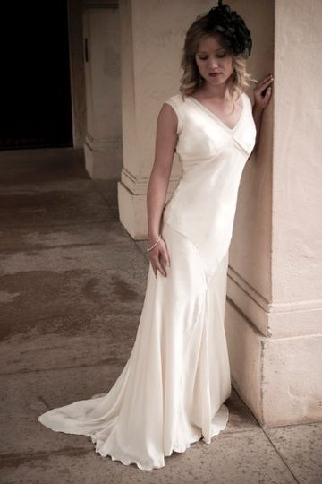 Evelyn - 1930's inspired silk charmeuse wedding gown