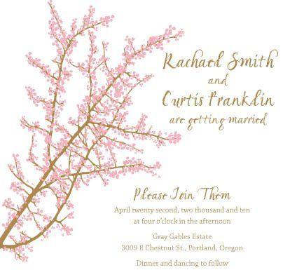 Cherry blossom suite printable do it yourself invitation file