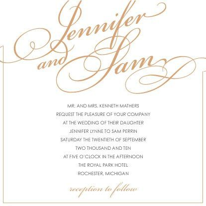 Fancy Script Invitation printable do it yourself file