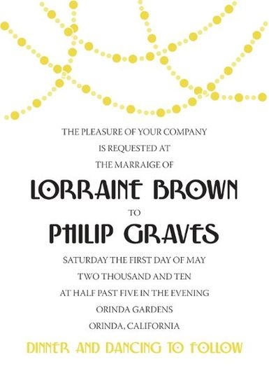 Gatsby printable do it yourself invitation suite