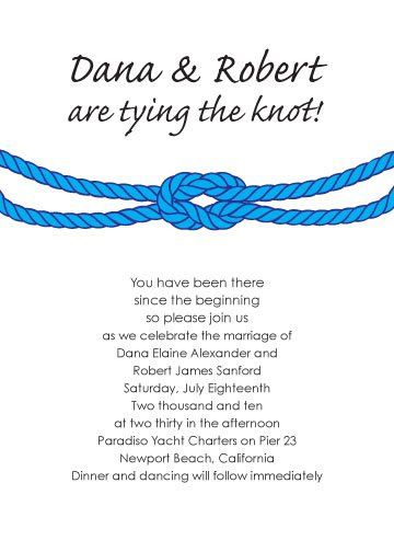 Tying the knot printable invitation suite, do it yourself