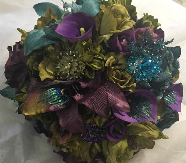 Mardi Gras custom bouquet