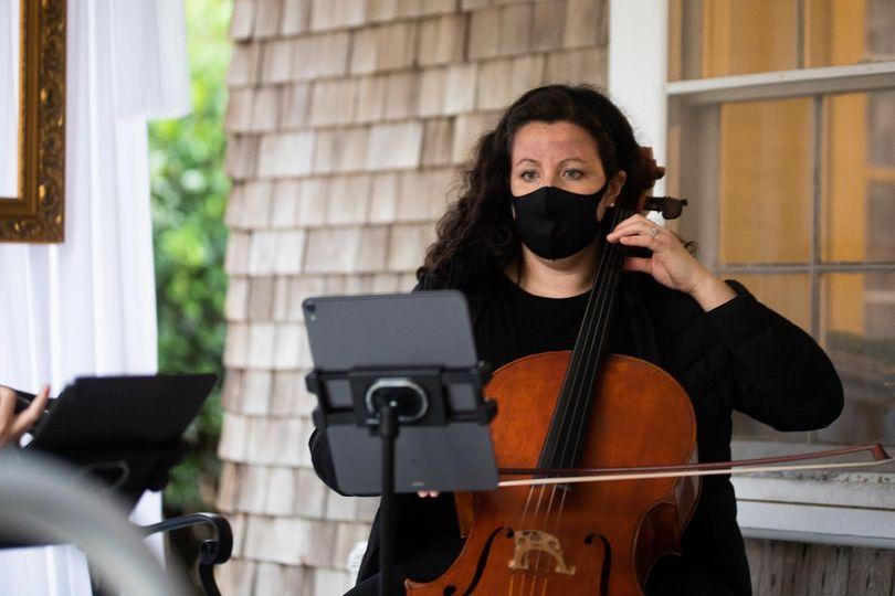 Cellist performing ceremony