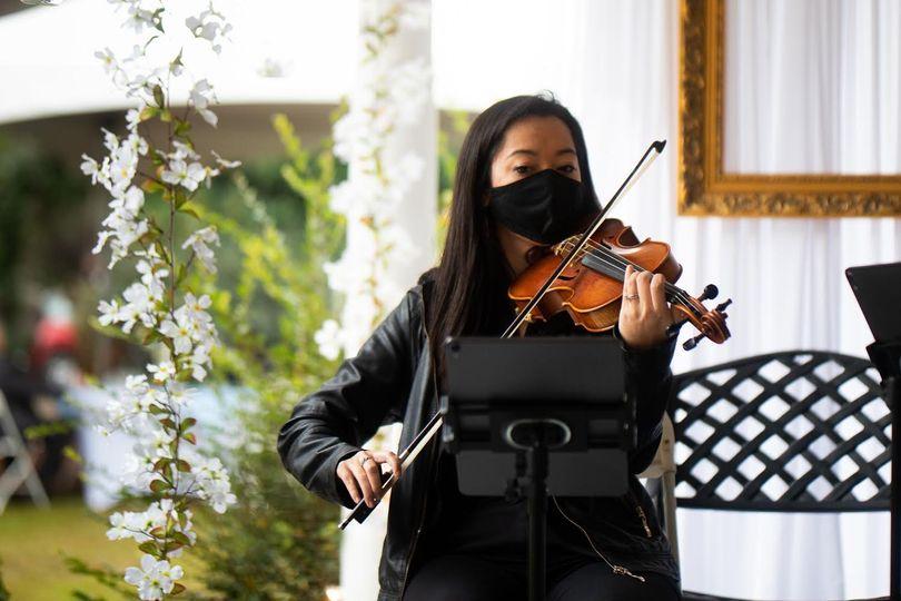 Violinist performing ceremony