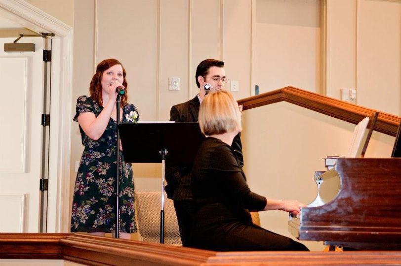 Singing at a wedding in Bremen, GA