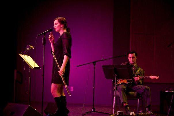 Joel & Katie performing jazz at Mill Town Music Hall in Bremen, GA
