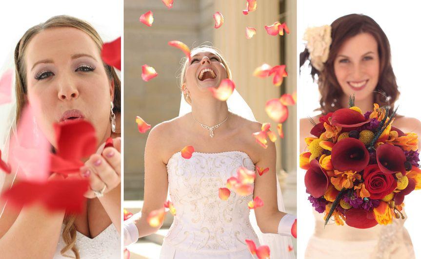 rochester wedding photographer - bridal portraits - rose petals