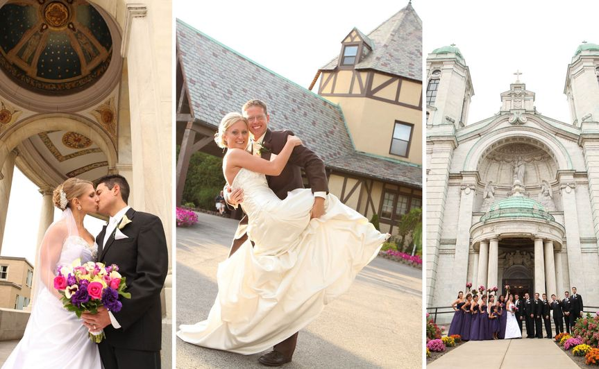 rochester wedding photographer - bridal portraits - our lady of victory basilica