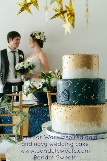 tier star wars inspired gold and navy wedding ca