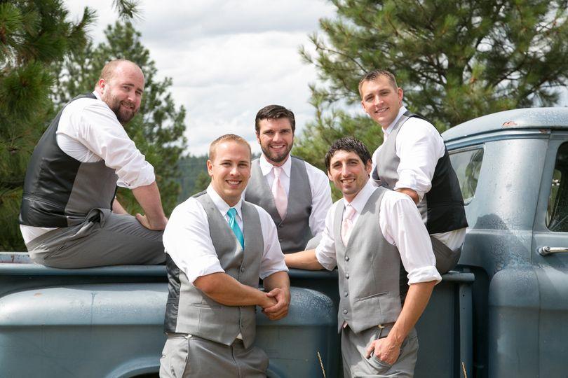 Groomsmen at Bliss Hill in Spokane