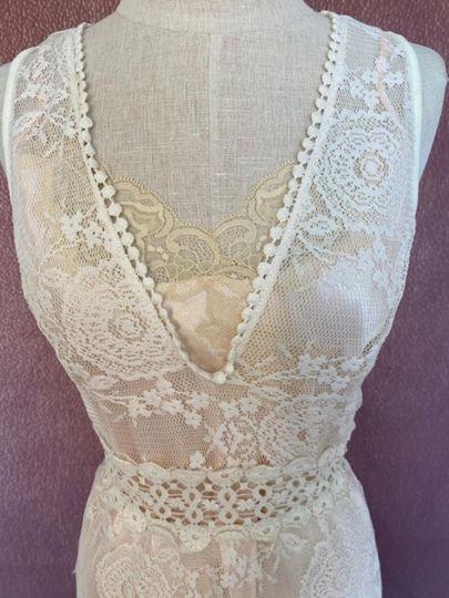 Stretch lace dress with slip