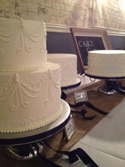 Wedding cake with embellishments