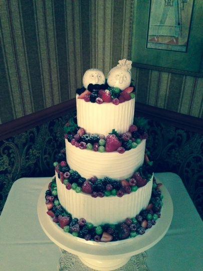 Three tier fruit cake